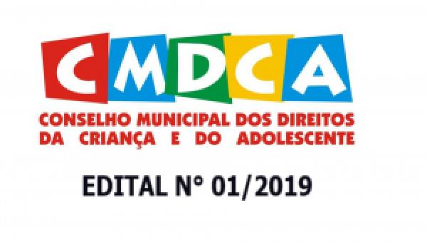 EDITAL 01/2019 SOBRE A ELEIÇÃO PARA MEMBROS DO CONSELHO TUTELAR DE CAMPOS LINDOS – TO